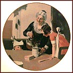 Mom's Special Treat Collector Plate by Norman Rockwell
