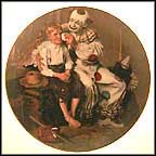 A Traveler's Pal Collector Plate by Norman Rockwell