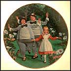 Tweedledee And Tweedledum Collector Plate by George Terp MAIN