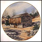 Log Barn Collector Plate by Harris Hien