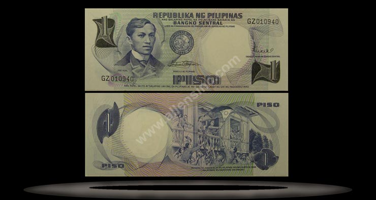 Philippines Banknote, 1 Piso, ND (1969), P#142b