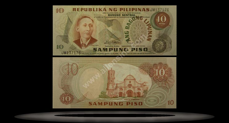 Philippines Banknote, 10 Piso, P#154a MAIN