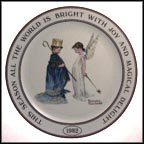 Angel and King Collector Plate by Norman Rockwell
