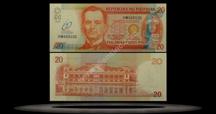 Philippines Banknote, 20 Piso, 2009, P#901 MAIN