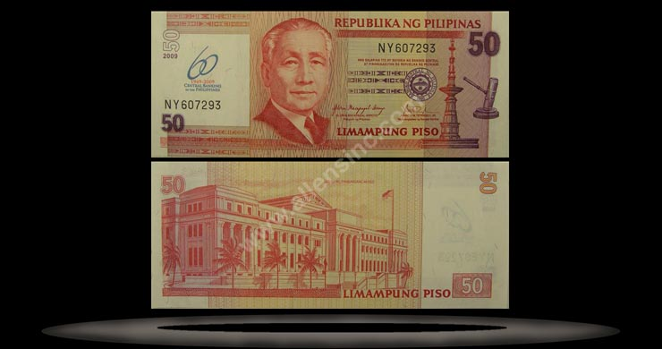 Philippines Banknote, 50 Piso, 2009, P#902 MAIN