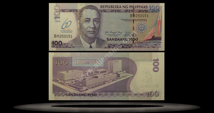 Philippines Banknote, 100 Piso, 2009, P#903 MAIN