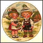 Dolly Dingle Visits Germany Collector Plate by Grace Drayton