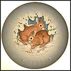 Rabbits - American Collector Plate by Gunther Granget