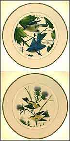 Bluebird / Goldfinch - set of 2 Collector Plate by John Ruthven MAIN
