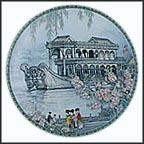 The Marble Boat Collector Plate by Zhang Song Mao
