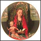 Madonna And Child Collector Plate by Pietro Vanucci Perugino