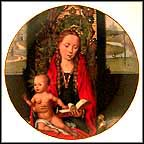 Madonna And Child With Angels By Memling Collector Plate by Hans Memling