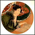 Five Feminine Virtues Collector Plate by Katsuskika Hokusai