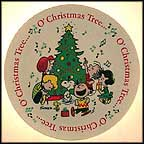 O Christmas Tree Collector Plate by Charles Schulz