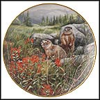 Scanning The Territory - Rockchucks Collector Plate by Gerda Neubacher