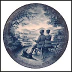 In The Park Collector Plate by Toni Schoener