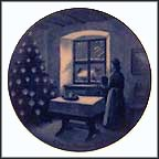 Waiting For Santa Claus Collector Plate by Toni Schoener MAIN