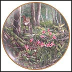 Deerhead Orchid Collector Plate by Gerda Neubacher
