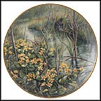 Marsh Marigold Collector Plate by Gerda Neubacher