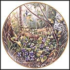 Violet Collector Plate by Gerda Neubacher