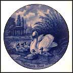 Swan And Cygnets Collector Plate by Toni Schoener