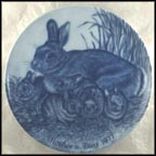 Rabbit with Young Collector Plate by Joann Nathcott