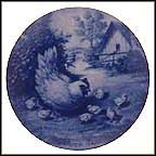 Hen And Chicks Collector Plate by Toni Schoener