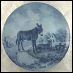 Donkeys Collector Plate by H. Blum