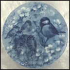 Great Tit with Chicks Collector Plate by H. Bann