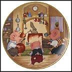 Three Little Pigs Collector Plate by Dorothea King