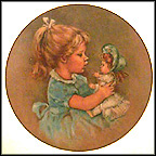 Becky And Baby Collector Plate by Leo Jansen