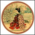 Cherry Flowers Collector Plate by Yoshiharu Katoh