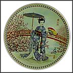 Plum Blossoms Collector Plate by Yoshiharu Katoh