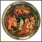 The Judgment Of Tsar Berendey Collector Plate by Sergei V. Teplov MAIN