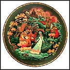 The Snowmaiden And Her Parents Collector Plate by Sergei B. Devyatkin
