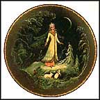 The Snowmaiden, Snegurochka Collector Plate by Antolyi Aleksandrovich Kamorin