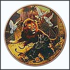 The Lion And The Mouse Collector Plate by Michael Hampshire