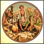 The Milkmaid And Her Pail Collector Plate by Michael Hampshire MAIN