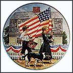 Fourth Of July Collector Plate by Don Spaulding
