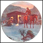 Christmas At The New Cabin Collector Plate by Mort Künstler MAIN