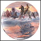Crossing The River Collector Plate by Mort Künstler MAIN