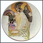 The Pharoah's Daughter And Moses Collector Plate by Eve Licea