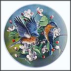 The Bluebird Collector Plate by Kevin Daniel