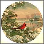 Cardinals In Winter Collector Plate by Sam Timm