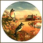 Cedar Waxwings In Fall Collector Plate by Sam Timm
