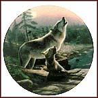 Howling Lesson Collector Plate by Kevin Daniel