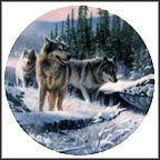 Winter Travelers Collector Plate by Kevin Daniel