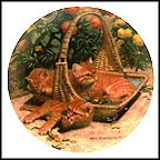 Flower Bed: British Shorthairs Collector Plate by Amy Brackenbury