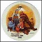 Bedtime Story Collector Plate by Joseph Csatari