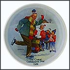 The Skating Lesson Collector Plate by Joseph Csatari